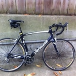 Dura ace components, all carbon road bike,  Mavic wheelset.  Selle Italia Saddle, Continental Grand Prix tires.  This is my second bike, but I ride it almost as much as my new BMC.  Great up hills, especially out of the saddle.