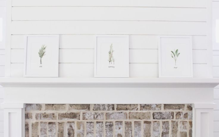 greenery prints - perfect on some shiplap!
