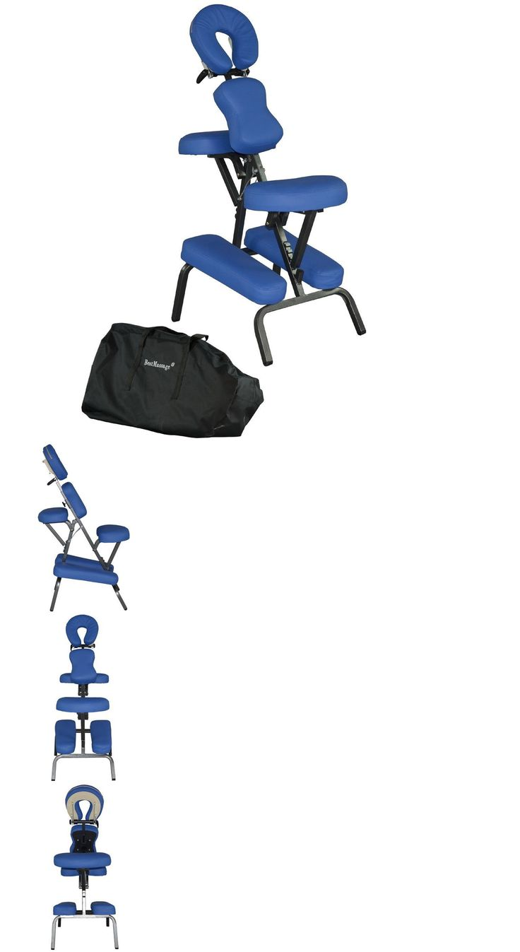 Massage Tables and Chairs: 4 Professional Foam Portable Massage Chair Tattoo Spa Salon Chair Blue-465 BUY IT NOW ONLY: $69.81