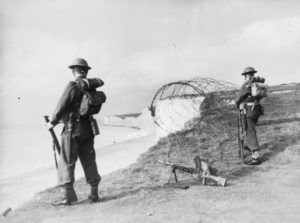image of soldiers operating Bren gun Eastbourne, Sussex