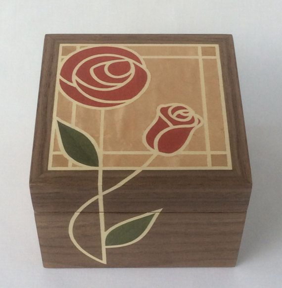 Marquetry trinket box featuring Rennie by ThistleMarquetry on Etsy