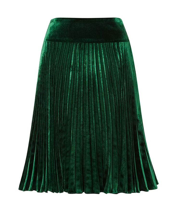 green pleated skirt trousers skirts aw13