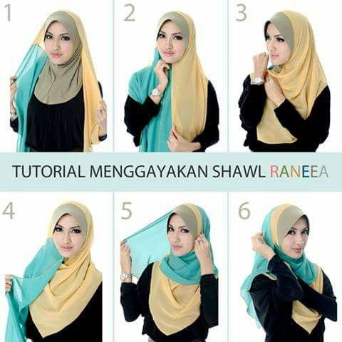 Tutorial Hijab, tudung, shawl