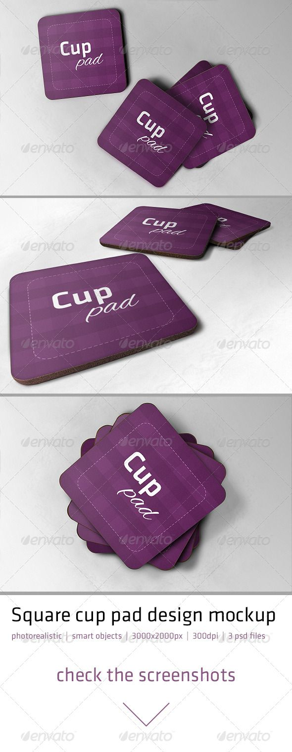 Realistic Cup Pad Mockup — Photoshop PSD #coaster #photorealistic • Available here → https://graphicriver.net/item/realistic-cup-pad-mockup/5149364?ref=pxcr
