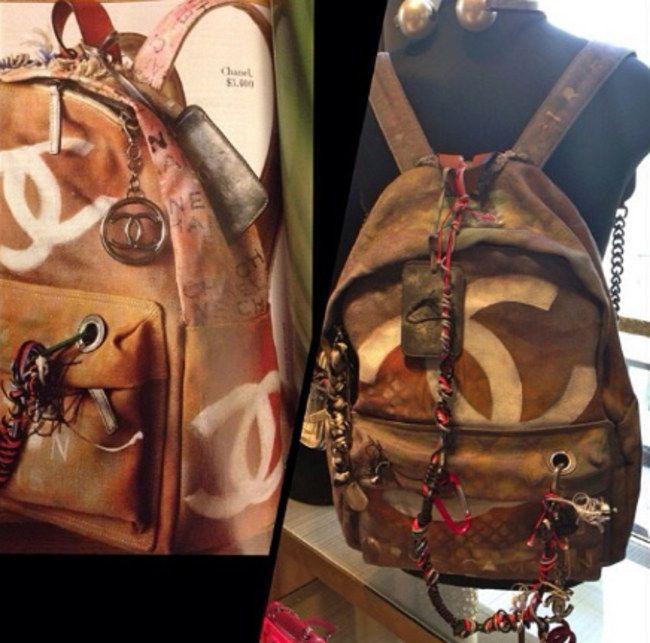 Chanel : Le sac à dos graffiti fait polémique (Photos)