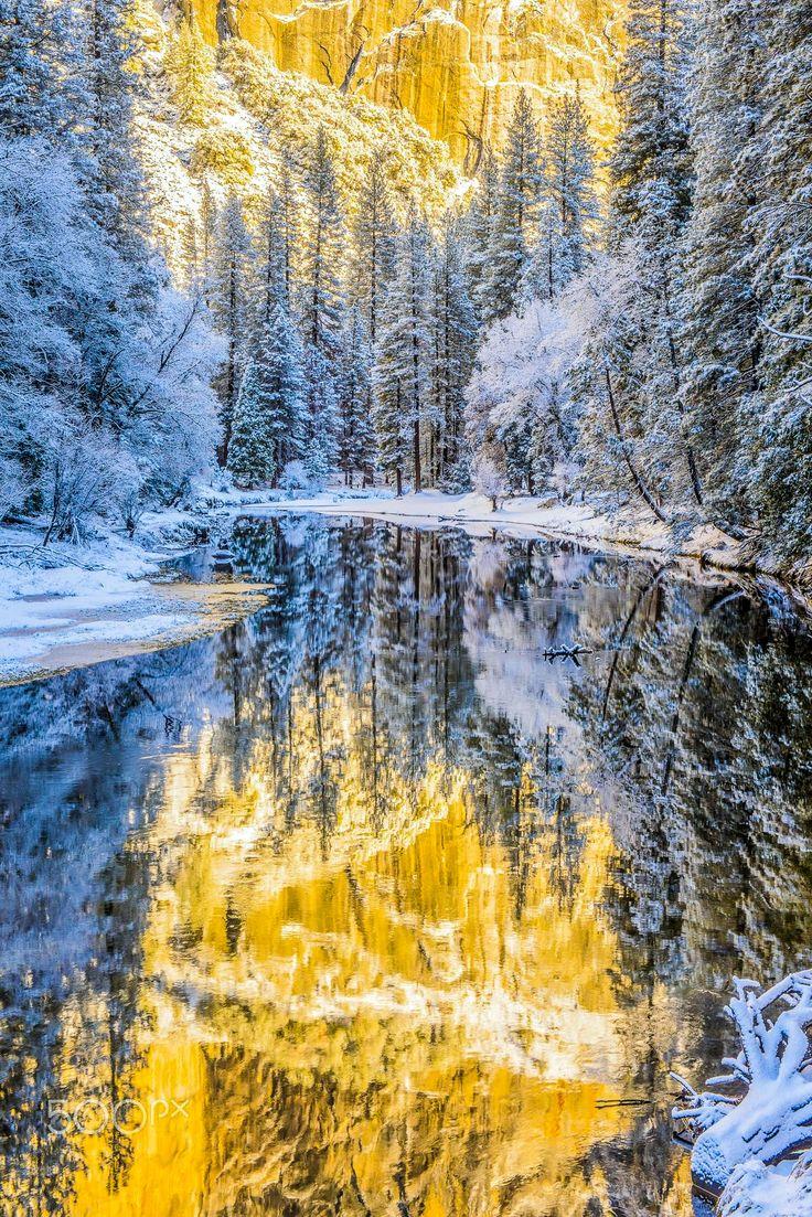 ***Winter reflections (Yosemite, California) by Seungho Yoo