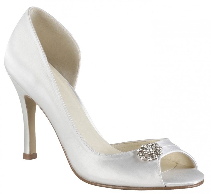 Aura Hope Wedding Shoes From Elegant Steps High Heel Open Waisted P Toe With Offset Flower