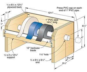 Porta-rolo - Suporte de fita adesiva | Wood Second Chance