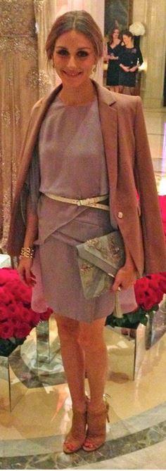 Olivia Palermo: Dress – Elie Saab  Jacket – Reiss  Belt – Whistles  Shoes – Aquazzura