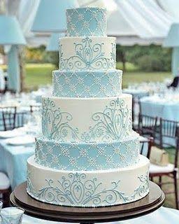 Tiffany blue wedding theme ideasBaby Blue, White Cake, Blue Wedding Cake, Cake Design, White Wedding Cake, Tiffany Blue, Wedding Cakes, Blue Cake, Blue Weddings