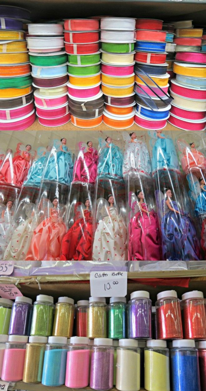 Website for wholesale craft supplies and bulk party supplies featured on the LA Fashion District Blog.