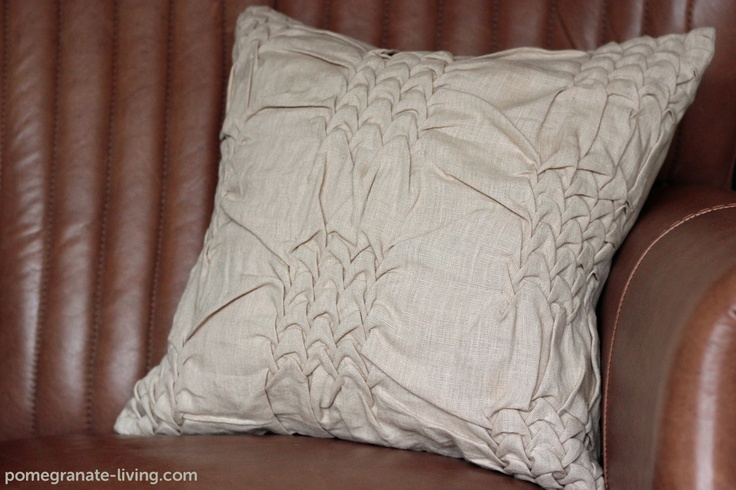 Wave cushion in linen by Nitin Goyal. £80. http://www.pomegranate-living.com/wave-cushion-in-beige-by-nitin-goyal.ir?cName=brands-nitin-goyal-cushions