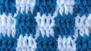 how to crochet checkered pattern - YouTube