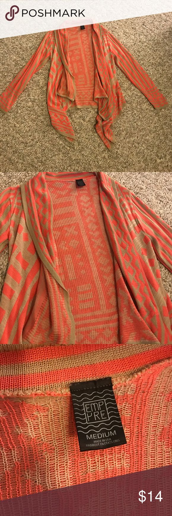 Tribal print cardigan Super cute tribal print cardigan. Some wear but still in great condition! empyre Sweaters Cardigans