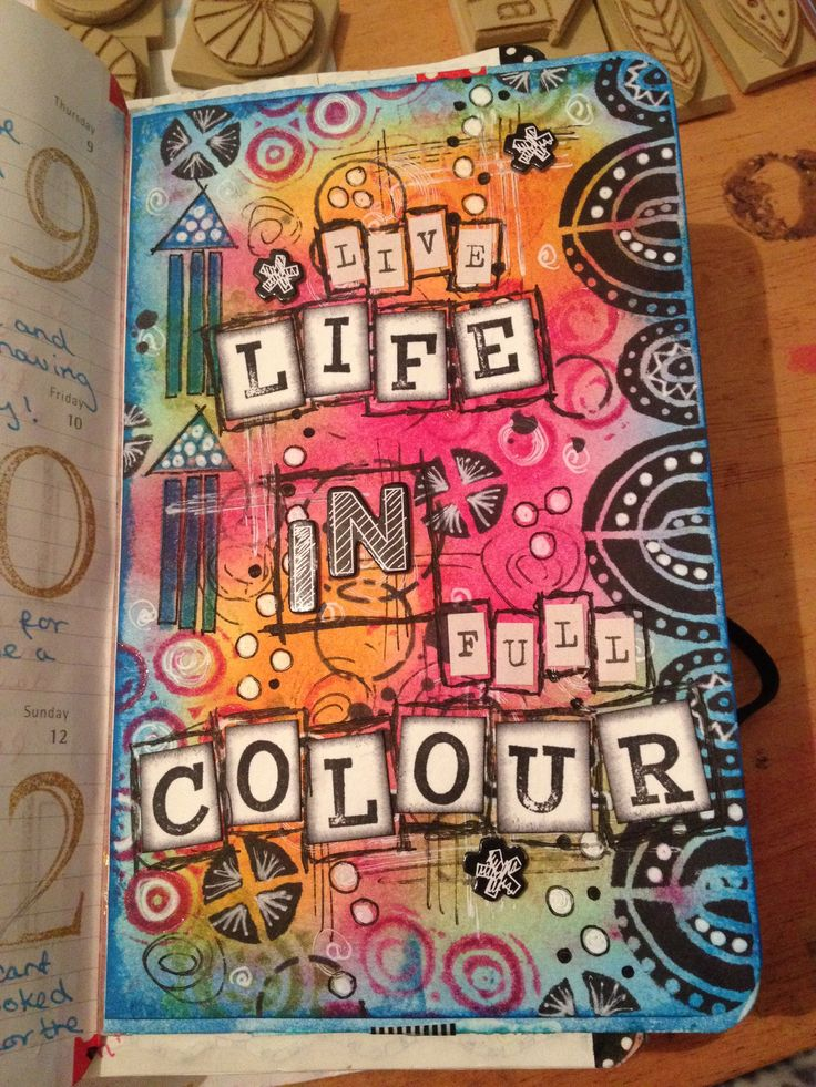 So after a goods night sleep I just had to add a bit more to it !! Art journal page / distress pads and stamps