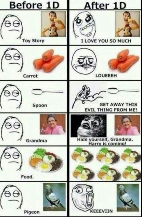 Being a Directioner is Funny!!! XD lol don't get the grandma thing tho..? Haha