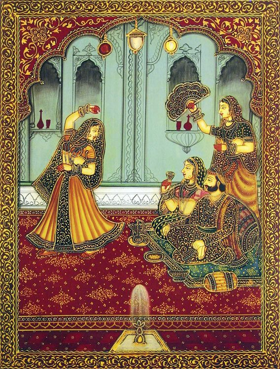 The Dancer Entertaining The King and Queen (Reprint on Paper - Unframed))