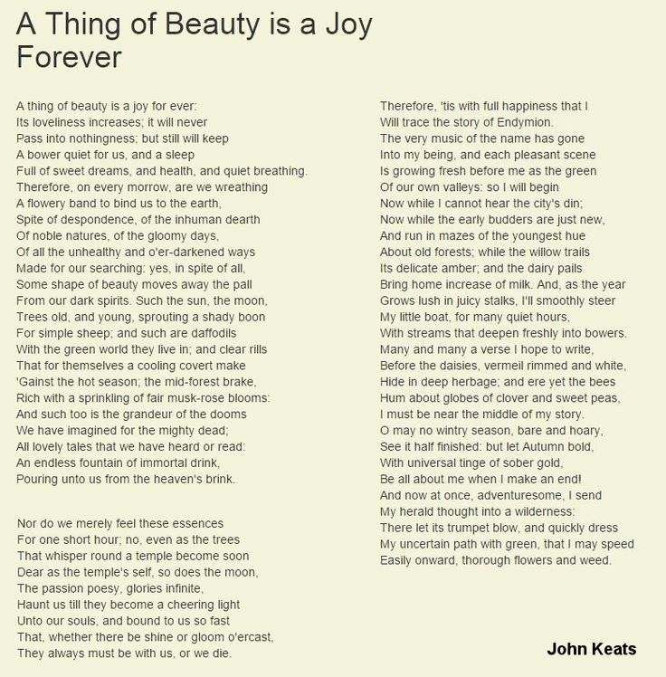 a thing of beauty poem pdf