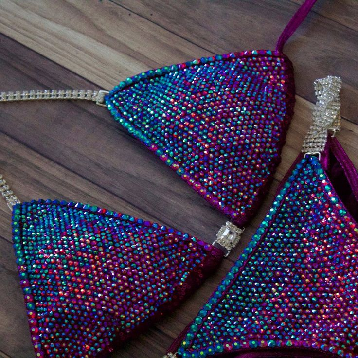 Angel Pro gradient emerald ab and fuchsia ab with crystal trim. Sequin cranberry