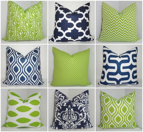 Premier Prints Navy and Lime Chartreuse Geometric Damask Ikat