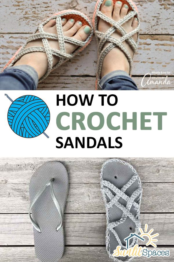 How to crochet sandals –
