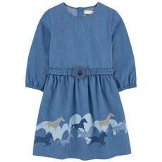 Stella McCartney Kids - Вышитое платье из шамбре - 192118