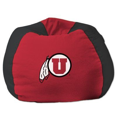 COL Bean Bag Chair NCAA Team: Utah, Upholstery: Red/Black - http://delanico.com/bean-bag-chairs/col-bean-bag-chair-ncaa-team-utah-upholstery-redblack-736257342/