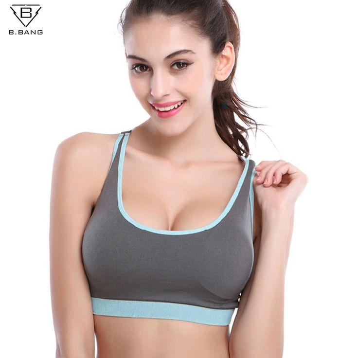 B.BANG Women Sports Yoga Bra Push Up Bra Woman Fitness Seamless Underwear Padded Crop Tops for Woman Running Vest Tops Bra
