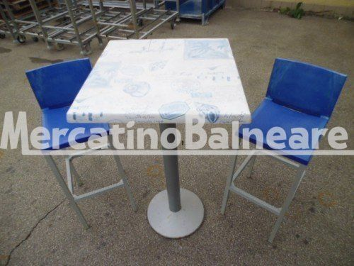 SGABELLI E TAVOLO - Mercatino Balneare 9 sgabelli di cui 6 blue 3 bianchi al prezzo di euro 25,00 cadauno + iva e trasporto escluso abbianbili a tre tavoli con piana da 60 x 60 a euro 50,00 cad. + iva aquistabili in abbinamento 3 tavoli e 3 sgabelli Quantità:3 Prezzo €50.00+iva  https://www.mercatinobalneare.it/annuncio/sgabelli-e-tavolo/  #stabilimentobalneare #attrezzaturabalneare #attrezzaturabalneareusata #mercatinobalneare #attrezzaturabalnearenuova #annuncius