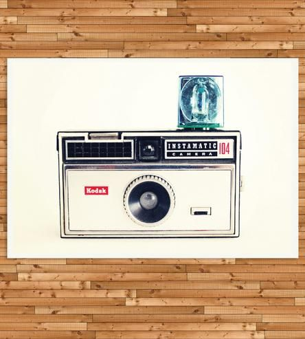 Instamatic Camera Art Print by Beckamade on Scoutmob Shoppe