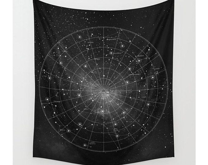 Constellation Wall Tapestry Wall Hanging Star Map Astronomy Astrology Celestial Map Space Wall Art Wall De Wall Tapestry Tapestry Tapestry Wall Hanging