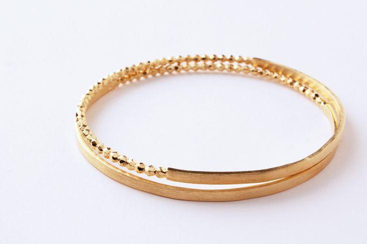 Gouden duo armband Refined – VA-TOUT by Line Vanden Bogaerde