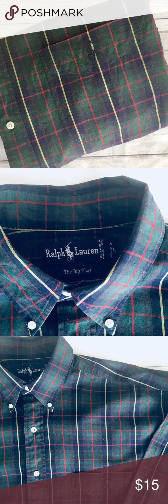 """🐎SALE 🐎1/$20•2/$35•3/$50•🐎POLO• RALPH• LAUREN• 🐎SALE 🐎1/$20•2/$35•3/$50•🐎POLO• RALPH• LAUREN•  🇺🇸Military, police & fire men & women receive 10% discount🇺🇸    men's  long sleeve 100% cotton oxford shirt•  L BIG SHIRT per tag: running large~ see measurements below• Signature pony•   GUC• I see no flaws•    shoulder: 22"""" Chest: 29"""" (armpit-armpit) Sleeve: 35"""" Length: 34""""  🐎CHECK BACK EACH WEEK FOR NEW POLO LISTINGS🐎 Polo by Ralph Lauren Shirts Casual Button Down Shirts"""