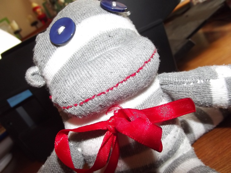 My first ever sock monkey!