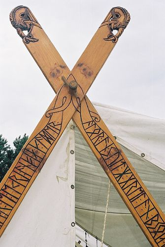 I think something like this would be great - with the names of those who have pledged to my campaign, in Runes.