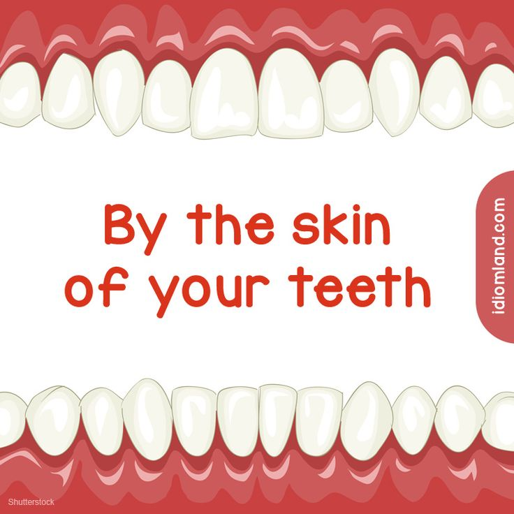 Idiom of the day: By the skin of your teeth. Meaning: Just barely. #idiom #idioms #english #learnenglish