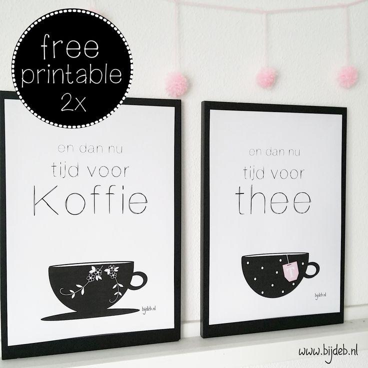 2x Free printable A4 posters coffee tea