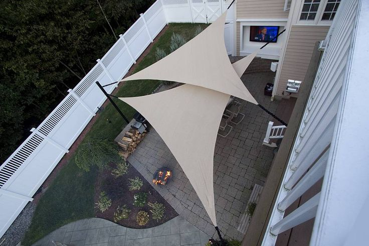 Shade Sails | Sun Shades... These are so cool.