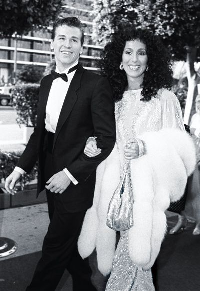 Cher with Val Kilmer at the Oscars — 1982