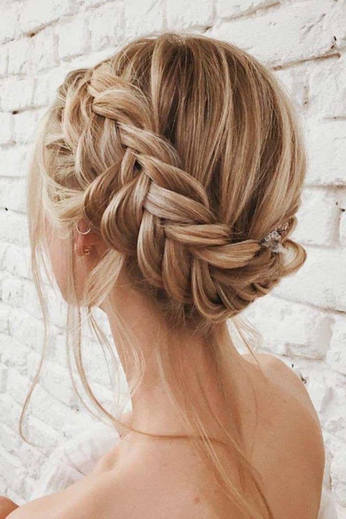 blonde mittellange haare schnitt und frisur, zopf selber flechten, lange dünne …