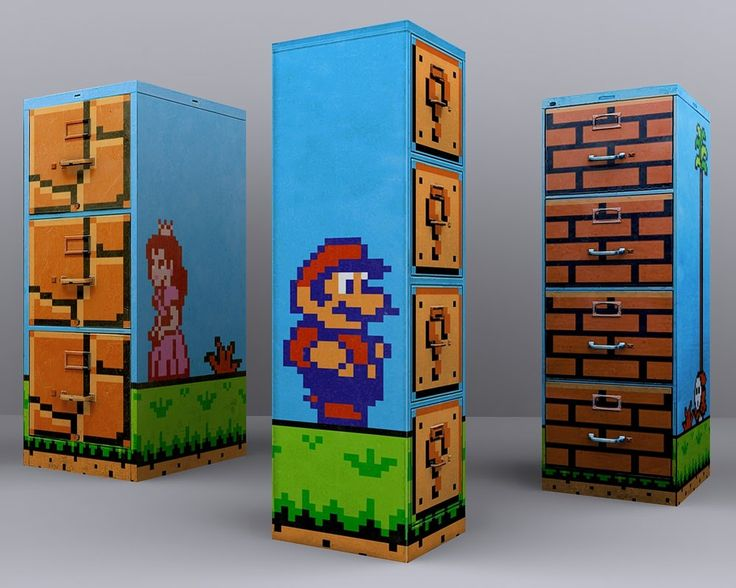 Mario styled filing cabinet, via Pinterest