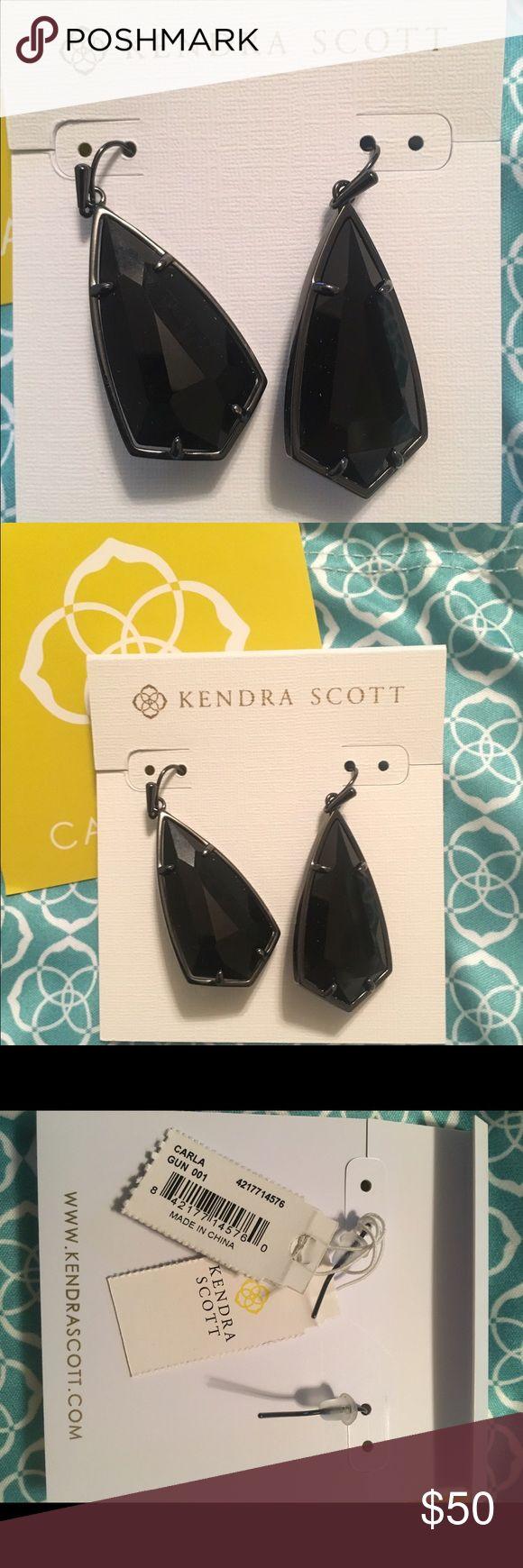 Kendra Scott Authentic New Carla Drop earrings Kendra Scott Brand New Carla Drop Earrings in Gun. Black on black. Kendra Scott Jewelry Earrings