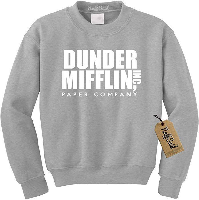 info for 91a8a b6371 Amazon.com: NuffSaid Dunder Mifflin Crewneck Sweatshirt ...
