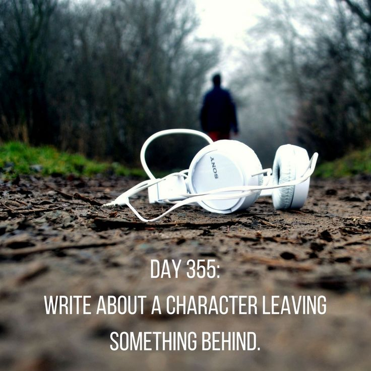 Day 355 of 365 Days of Writing Prompts: Write about a character leaving something behind. Shannon: He doesn't know, but I left the book behind on purpose. Our breakup still continued to sting, but …
