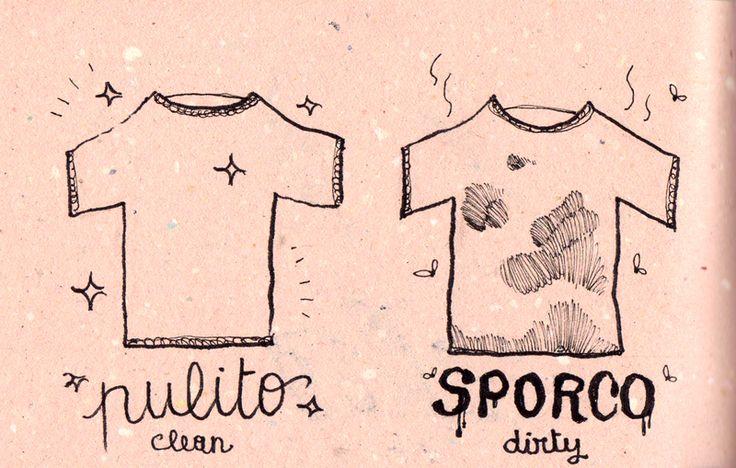 Learning Italian - Pulito / Sporco