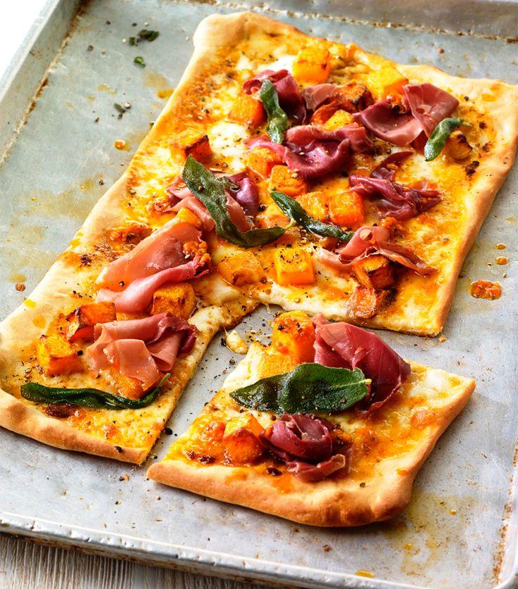 Pizza caseira com Abóbora, Sálvia e Presunto de Parma | Filippo Berio