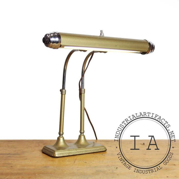 Vintage Industrial Brass Bankers Lawyers Piano Desk Lamp