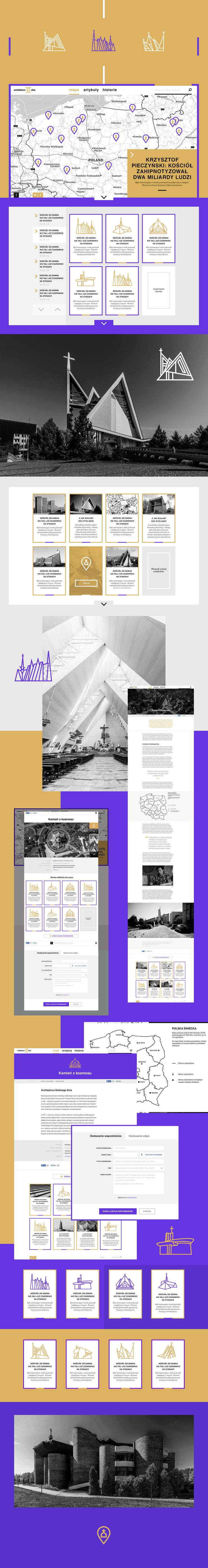 Архитектурный сайт с подборкой самобытных церквей Польши, Сайт © Pixies