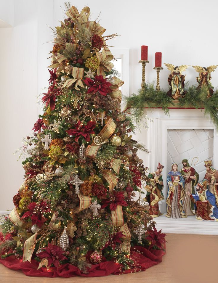 Country Decorated Christmas Trees