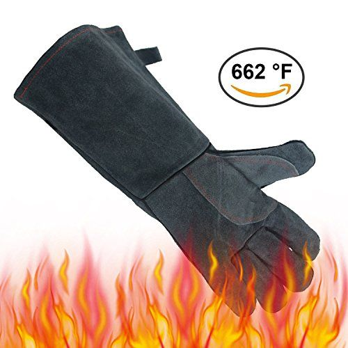 OZERO Wedling & Barbecue Gloves are designed for welding and BBQ, but also useful for many other work and home tasks. gardening, construction, mechanical, farming, heli-arc welding, tig welder, grinding, forge, mining, pipe fitting, moving wood to wood-burning stove, camp fires, grilling,...